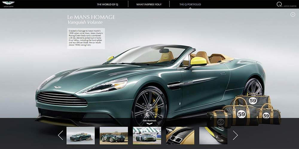 qaston martin: bespoke luxury personalisation goes digital